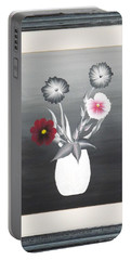 Faux Flowers II Portable Battery Charger by Ron Davidson