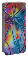 Faux Stained Glass 1 Portable Battery Charger