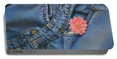 Favorite Jeans Portable Battery Charger by Pamela Clements