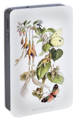 Feasting And Fun Among The Fuschias Portable Battery Charger by Richard Doyle
