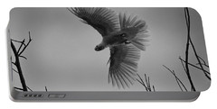 Feathered Flight  Portable Battery Charger by Douglas Barnard