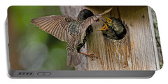 Feeding Starlings Portable Battery Charger by Torbjorn Swenelius