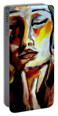 Portable Battery Charger featuring the painting Feel by Helena Wierzbicki