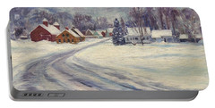 Felchville Village In The Snow Portable Battery Charger
