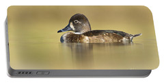 Portable Battery Charger featuring the photograph Female Ring Necked Duck by Bryan Keil