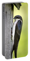 Tree Swallow On Nestbox Portable Battery Charger