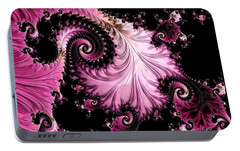 Portable Battery Charger featuring the digital art Femme Fatale Fractal by Susan Maxwell Schmidt
