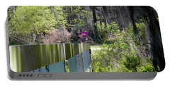 Portable Battery Charger featuring the photograph Fence Points The Way by Patricia Greer