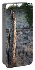 Portable Battery Charger featuring the photograph Fence Post by David S Reynolds