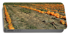 Portable Battery Charger featuring the photograph Fencing The Pumpkin Patch by Michael Gordon