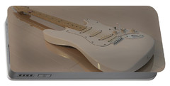 Fender Stratocaster In White Portable Battery Charger