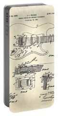 1956 Fender Tremolo Patent Drawing I Portable Battery Charger by Gary Bodnar