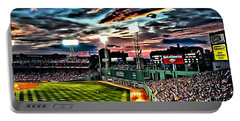 Fenway Park At Sunset Portable Battery Charger