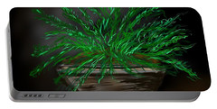 Portable Battery Charger featuring the digital art Fern by Christine Fournier