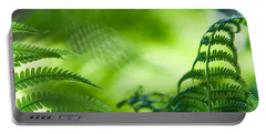 Fern Leaves. Healing Art Portable Battery Charger