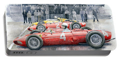 Ferrari 156 Sharknose 1961 Belgian Gp Portable Battery Charger