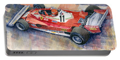 Ferrari 312 T2 Niki Lauda 1977 Monaco Gp Portable Battery Charger