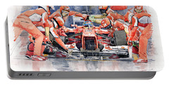 2012 Ferrari F 2012 Fernando Alonso Pit Stop Portable Battery Charger