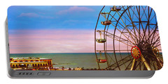 Ocean City New Jersey Ferris Wheel And Music Pier Portable Battery Charger