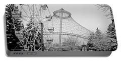Ferris Wheel And R F P Pavilion - Spokane Washington Portable Battery Charger