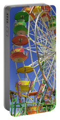 Ferris Wheel Portable Battery Charger by Marcia Socolik