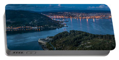 Ferrol's Estuary Panorama From La Bailadora Galicia Spain Portable Battery Charger by Pablo Avanzini