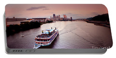 Ferry Boat At The Point In Pittsburgh Pa Portable Battery Charger