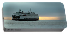 Ferry Sealth In The Fog Portable Battery Charger by E Faithe Lester