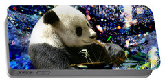 Festive Panda Portable Battery Charger by Mariola Bitner