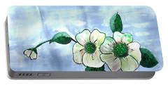 Field Flowers Portable Battery Charger by Francine Heykoop