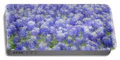 Field Of Bluebonnets Portable Battery Charger by Kathy Churchman