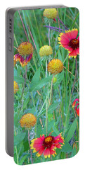 Portable Battery Charger featuring the painting Field Of Color by Jennifer Muller