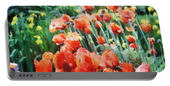 Field Of Flowers Portable Battery Charger