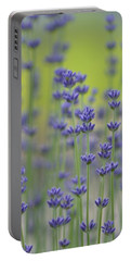 Field Of Lavender Flowers Portable Battery Charger by P S
