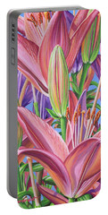 Field Of Lilies Portable Battery Charger