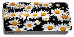Fields Of Daisies Portable Battery Charger by Pat Cook