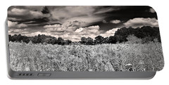 Fields Of Gold And Clouds Portable Battery Charger by Mitchell R Grosky