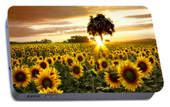 Fields Of Gold Portable Battery Charger by Debra and Dave Vanderlaan