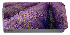 Fields Of Lavender Portable Battery Charger by Brian Jannsen