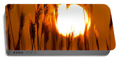Fiery Grasses Portable Battery Charger