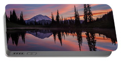 Fiery Rainier Sunset Portable Battery Charger
