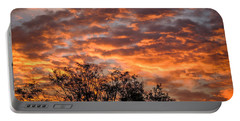 Fiery Sunrise Over County Clare Portable Battery Charger
