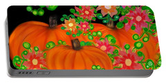 Fiesta Pumpkins Portable Battery Charger by Christine Fournier