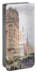 Fifth Avenue New York City 1906 Portable Battery Charger