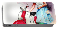 Fifties Lambretta Girl Portable Battery Charger