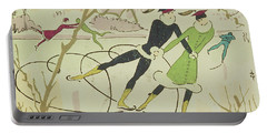 Figure Skating  Christmas Card Portable Battery Charger