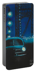 Film Noir In Blue #1 Portable Battery Charger