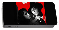 Film Noir Jane Greer Robert Mitchum Out Of The Past 1947 Rko Color Added 2012 Portable Battery Charger