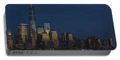 Financial District In New York City At Twilight Portable Battery Charger