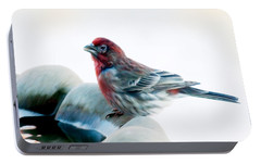 Portable Battery Charger featuring the digital art Finch by Ann Lauwers